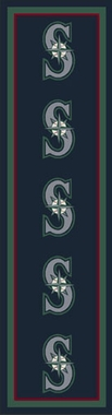 "Seattle Mariners 2'1"" x 7'8"" Premium Runner Rug"