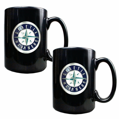 Seattle Mariners 2 Piece Coffee Mug Set