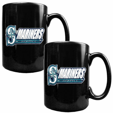 Seattle Mariners 2 Piece Coffee Mug Set (Wordmark)