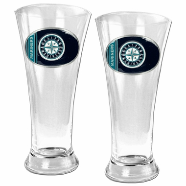 Seattle Mariners 2 Piece Pilsner Glass Set