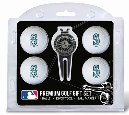 Seattle Mariners 4 Ball and Tool Gift Set