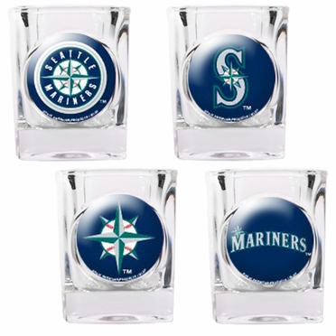 Seattle Mariners 4 Piece Assorted Shot Glass Set
