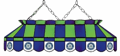 Seattle Mariners 40 Inch Rectangular Stained Glass Billiard Light
