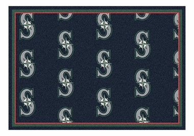 "Seattle Mariners 5'4"" x 7'8"" Premium Pattern Rug"