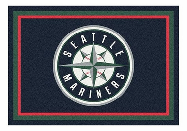 "Seattle Mariners 5'4"" x 7'8"" Premium Spirit Rug"