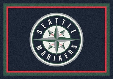 "Seattle Mariners 7'8"" x 10'9"" Premium Spirit Rug"