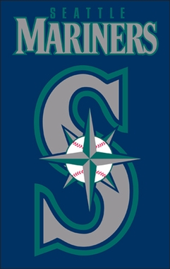 Seattle Mariners Applique Banner Flag