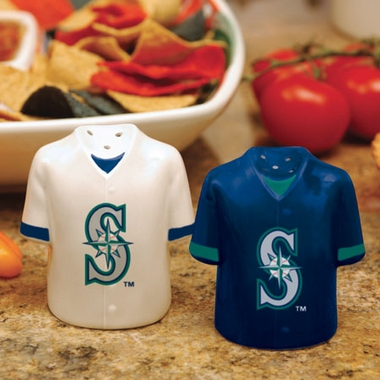 Seattle Mariners Ceramic Jersey Salt and Pepper Shakers
