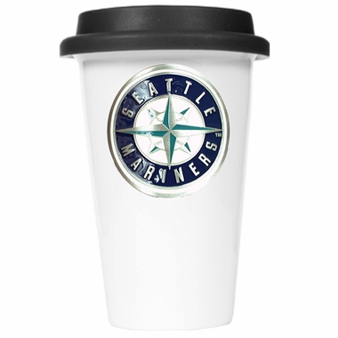 Seattle Mariners Ceramic Travel Cup (Black Lid)