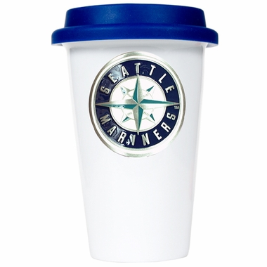 Seattle Mariners Ceramic Travel Cup (Team Color Lid)