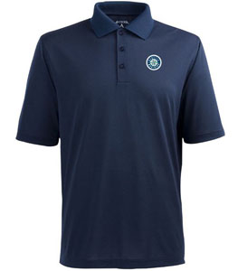 Seattle Mariners Mens Pique Xtra Lite Polo Shirt (Color: Navy) - Medium