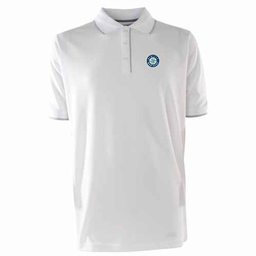 Seattle Mariners Mens Elite Polo Shirt (Color: White)