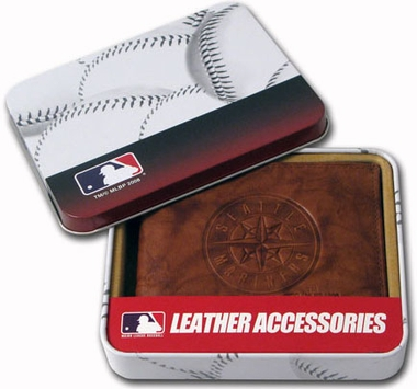 Seattle Mariners Embossed Leather Bifold Wallet