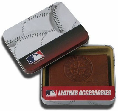 Seattle Mariners Embossed Leather Trifold Wallet