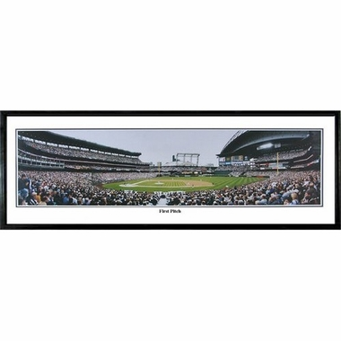 Seattle Mariners First Pitch Framed Panoramic Print
