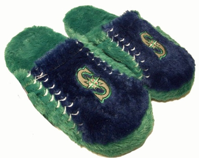 Seattle Mariners Fuzzy Slippers