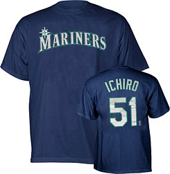 Seattle Mariners Ichiro YOUTH Name and Number T-Shirt
