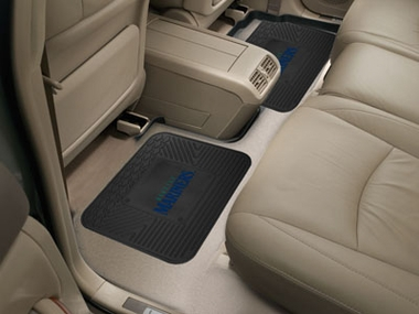 Seattle Mariners SET OF 2 Heavy Duty Vinyl Rear Car Mats