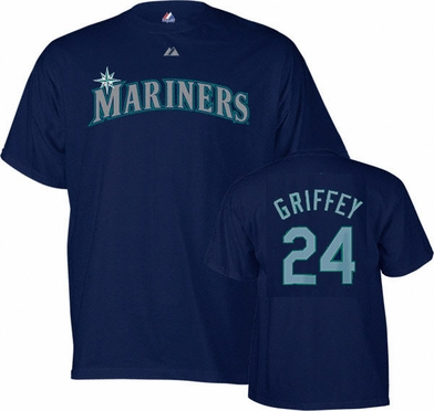 Seattle Mariners Ken Griffey Jr. YOUTH Name and Number T-Shirt
