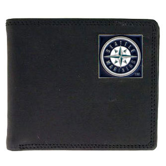 Seattle Mariners Leather Bifold Wallet (F)