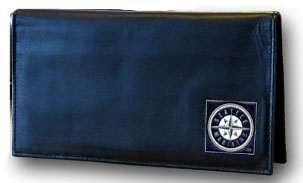 Seattle Mariners Leather Checkbook Cover (F)