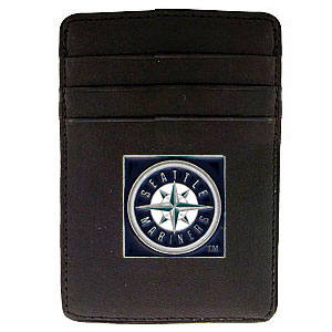 Seattle Mariners Leather Money Clip (F)