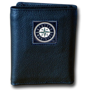 Seattle Mariners Leather Trifold Wallet (F)
