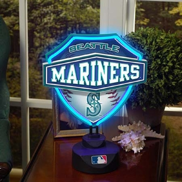 Seattle Mariners Neon Shield Table Lamp