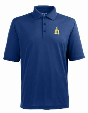 Seattle Mariners Mens Pique Xtra Lite Polo Shirt (Cooperstown) (Team Color: Royal)