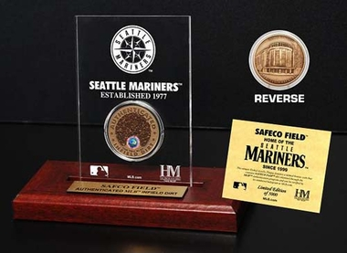 Seattle Mariners Safeco Field Infield Dirt Coin Etched Acrylic
