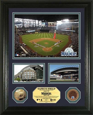 """Seattle Mariners Safeco Field Infield Dirt Coin """"Showcase"""" Photo Mint"""