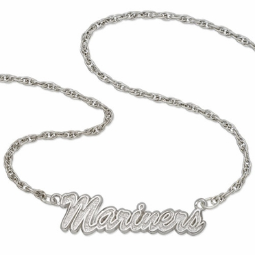 Seattle Mariners Script Necklace
