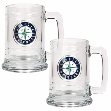 Seattle Mariners Set of 2 15 oz. Tankards