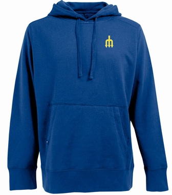 Seattle Mariners Mens Signature Hooded Sweatshirt (Cooperstown) (Team Color: Royal)