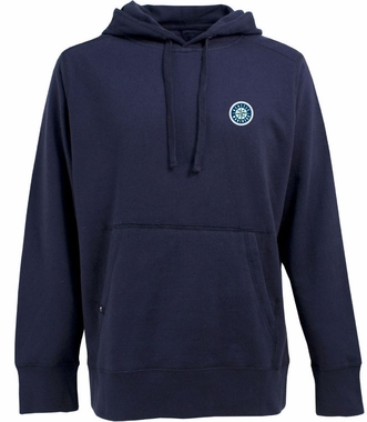 Seattle Mariners Mens Signature Hooded Sweatshirt (Team Color: Navy)