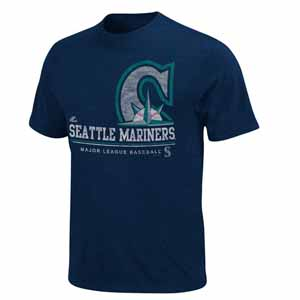 Seattle Mariners Submariner Heathered T-Shirt - Medium