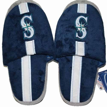 Seattle Mariners Team Stripe Slide Slippers