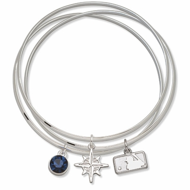 Seattle Mariners Triple Bangle Bracelet