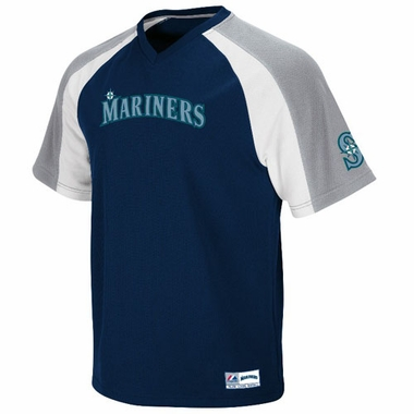 Seattle Mariners V-Neck Crusader Jersey (Team Color)