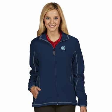 Seattle Mariners Womens Ice Polar Fleece Jacket (Color: Navy)
