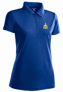 Seattle Mariners Womens Pique Xtra Lite Polo Shirt (Cooperstown) (Team Color: Royal)