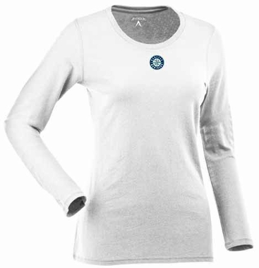 Seattle Mariners Womens Relax Long Sleeve Tee (Color: White)