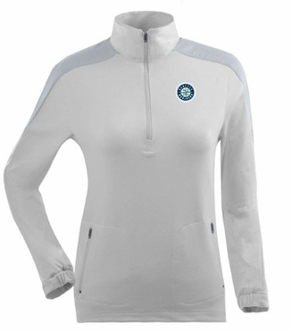 Seattle Mariners Womens Succeed 1/4 Zip Performance Pullover (Color: White)