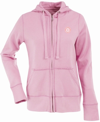 Seattle Mariners Womens Zip Front Hoody Sweatshirt (Color: Pink)
