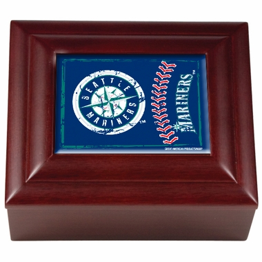 Seattle Mariners Wooden Keepsake Box
