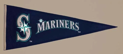 Seattle Mariners Wool Pennant