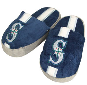 Seattle Mariners YOUTH Team Stripe Slide Slippers - Medium