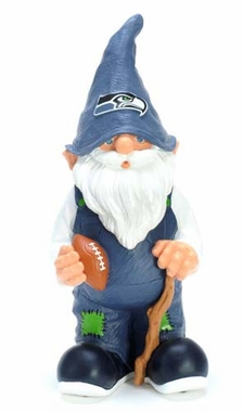 "Seattle Seahawks Garden Gnome - 11"" Male"