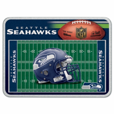 Seattle Seahawks 11 x 15 Glass Cutting Board