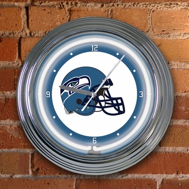 Seattle Seahawks 15 Inch Neon Clock